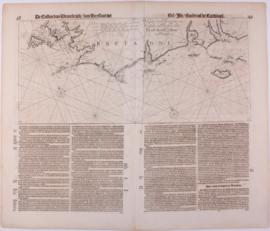 Zeekaart Frankrijk.