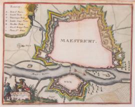 Plattegrond van Maastricht.