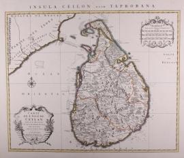 Kaart Ceylon