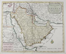 Kaart Arabië, Perzische golf