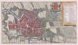 Plattegrond van Haarlem.