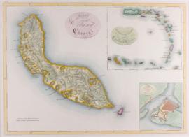 Kaart Curacao.