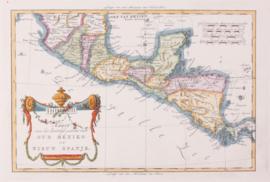 Kaart Mexico.