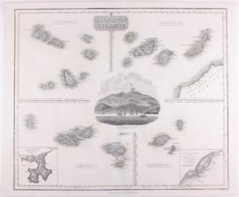 Kaart Atlantische eilanden.