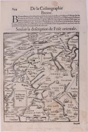 Kaart provincie Groningen.