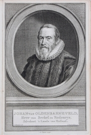 Portrait of Johan van Oldebarneveld.