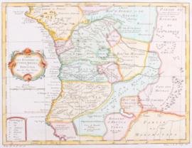 Kaart Congo, Angola