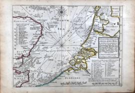 Zeekaart Holland