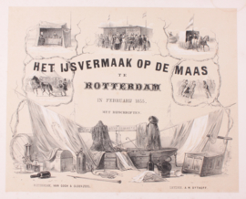 Panorama op Maas Rotterdam.