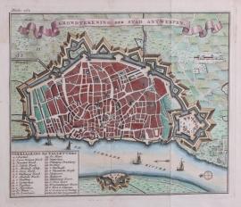 Plattegrond van Antwerpen.