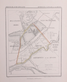 Gemeente kaartje van Capelle aan den IJssel