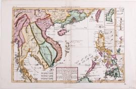 Kaart Vietnam en Thailand