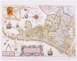Kaart Holland.