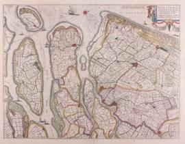 Kaart Delflandia en Schielandia
