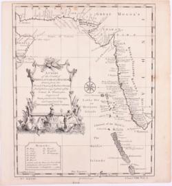 Kaart kust India.