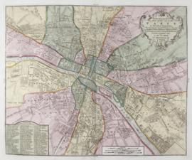 Plattegrond van Parijs.