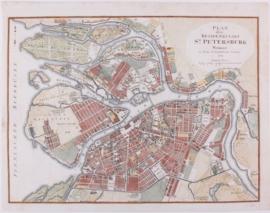 Plattegrond St. Petersburg.