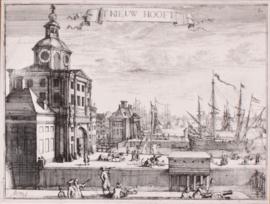 Gezicht op het Oude Hoofd van Rotterdam.