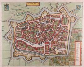 Plattegrond van Leeuwarden.
