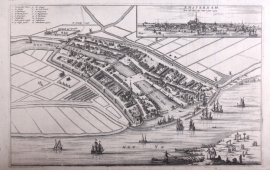 Town plan of Amsterdam.