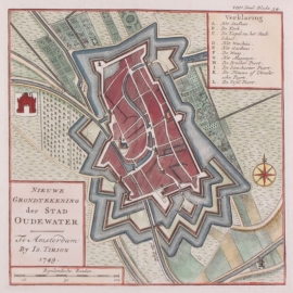 Town plan of Oudewater.