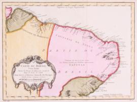 Kaart Brazilië.