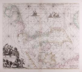 Zeekaart van Noordzee.