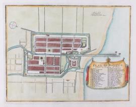 Plattegrond van Batavia