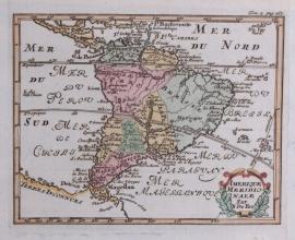 Kaartje van Zuid Amerika