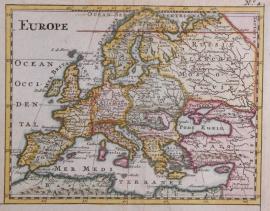 Kaartje van Europa.