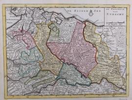 Kaart van Utrecht.