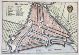 Town plan of Rotterdam.