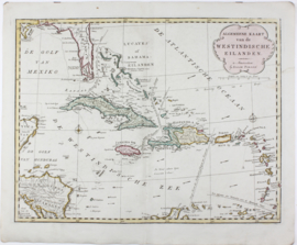 Kaart West Indië