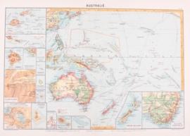 Kaart Australië / Oceanië.