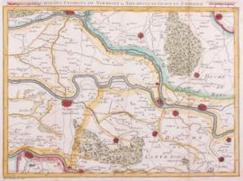 Kaart omgeving Nijmegen.
