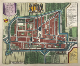 Plattegrond Delft.