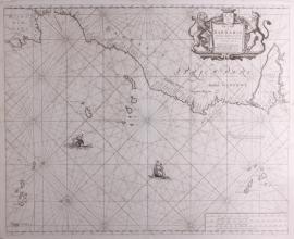 Kaart kust Marokko