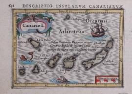 Kaartje van Canarische eilanden