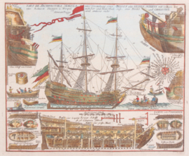 VOC schip met Langsdoorsnede