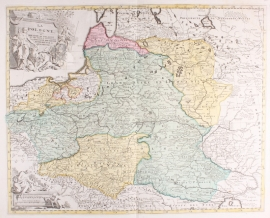 Kaart Polen.