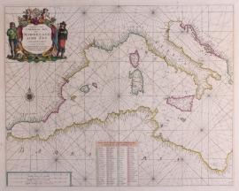 Paskaart Middelandse Zee.