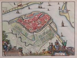 Town plan of Dordrecht.