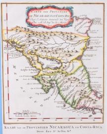 Kaart van Midden Amerika