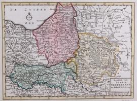 Kaart van Gelderland.