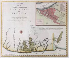 Kaart van Suriname.