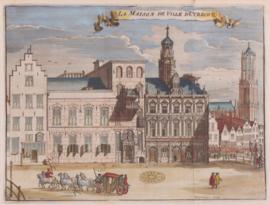 Gezicht op stadhuis Utrecht.