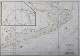 Zeekaart waddeneilanden.
