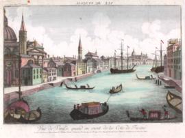 Gezicht op Venetie.