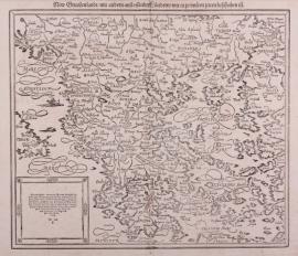 Kaart Griekenland.