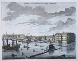Stadsgezicht zeemagazijn Amsterdam.